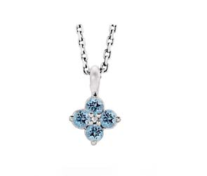 Aquamarine Flower Pendant