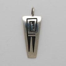 Sterling Silver Water Pendant - F. L. (artist)
