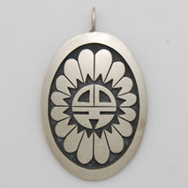 Sterling Silver 'Dawa' Sun God Pendant