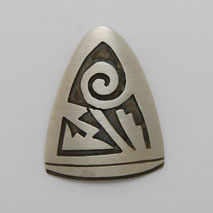 Sterling Silver Whirlwind Shield Pendant - Nathan Fred (artist)