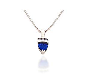Trillean Tanzanite and Diamond Pendant