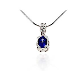 Tanzanite & Diamond Designer Pendant