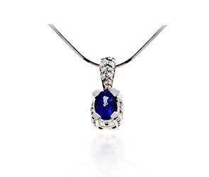 Tanzanite & Diamond Designer Pendant
