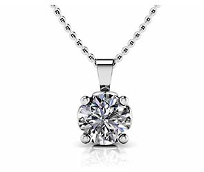Lotus Flower Diamond Pendant