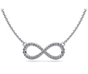 Illustrious Infinity Diamond Pendant
