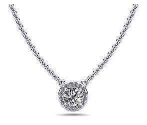 Enchanting Halo Diamond Pendant