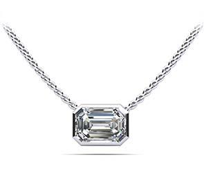 Evening Emerald Diamond Pendant