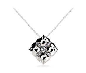Magnolia Flower Diamond Designer Pendant