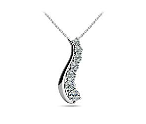 S-Shape Journey Diamond Pendant
