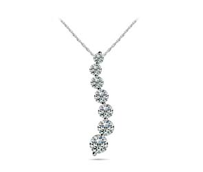 Diamond Journey Shared Prong Pendant