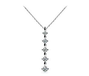 5 Stone Journey Diamond Pendant