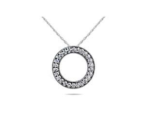 Milgrain Diamond Circle Pendant