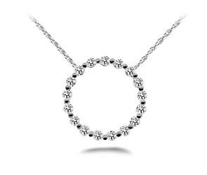 Stunning Diamond Circle Pendant