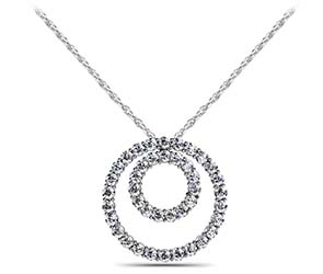 Double Diamond Circle Pendant