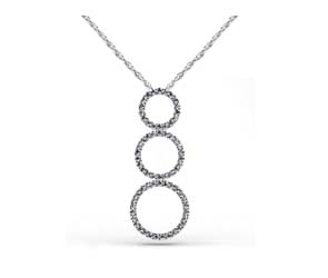 Triple Circles Diamond Pendant