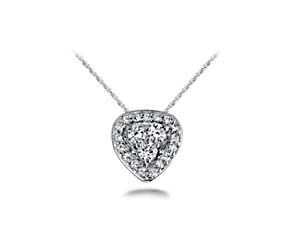 Triangle Shaped Designer Diamond Pendant