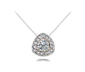 Rounded Triangle Diamind Designer Pendant