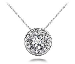 Round Diamond Centered Pendant