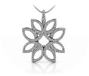 Exotic Flower Diamond Pendant