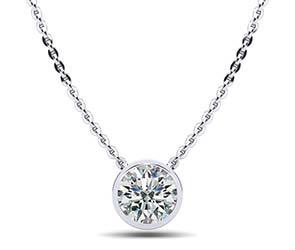 Solitaire Brilliant Round Diamond Pendant