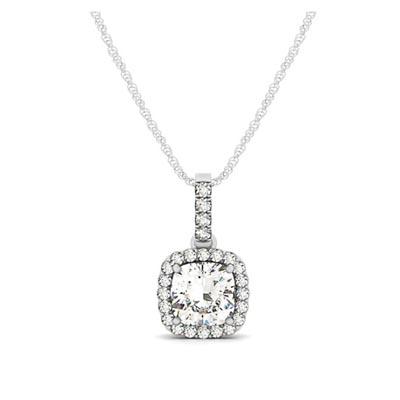 Halo cushion cut diamond pendant 32437 usa jewels diamond halo pendant aloadofball Choice Image