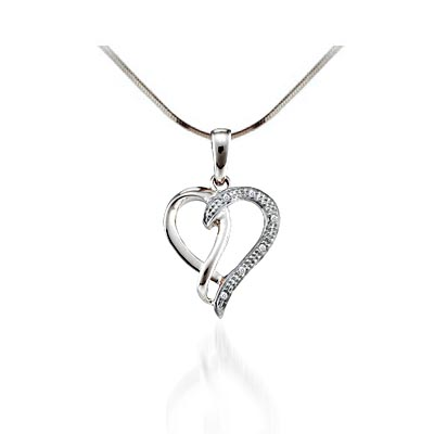 Diamond Heart Pendant .03 Carat Total Weight 0.03 Carat Total Weight