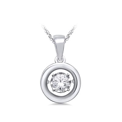 Moving Diamond Solitaire Pendant 1/5 Carat Total Weight