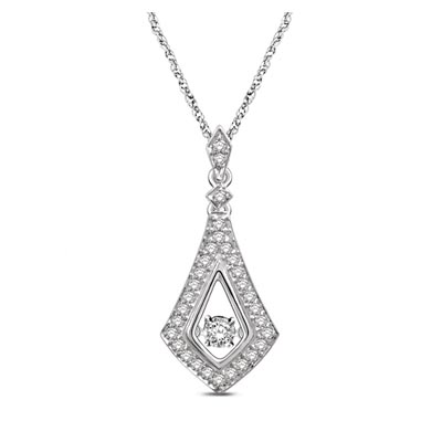 Moving Diamond Fashion Pendant 1/2 Carat Total Weight