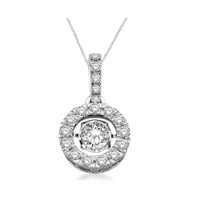 Moving Diamond Fashion Pendant 1.25 Carat Total Weight
