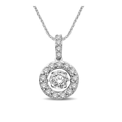 Moving DIamond Fashion Pendant 1.14 Carat Total Weight