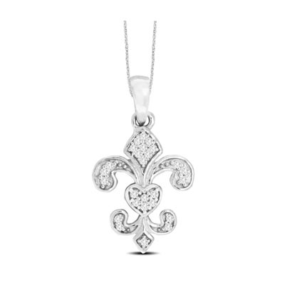 Diamond Fashion Pendant 0.05 Carat Total Weight