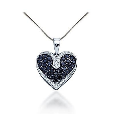 Black diamond heart pendant 12 ctw 74906 usa jewels black diamond heart pendant 12 carat total weight 12 carat total weight aloadofball Images