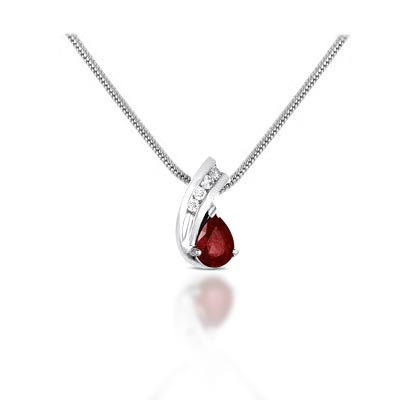 Pear shape ruby diamond pendant 90 carat total weight usa jewels pear shape ruby diamond pendant 90 carat total weight mozeypictures Images