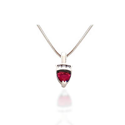 Trillean Ruby & Diamond Pendant 0.55 Carat Total Weight