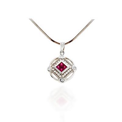 Ruby diamond amulet pendant px2638 usa jewels ruby pendant aloadofball Gallery