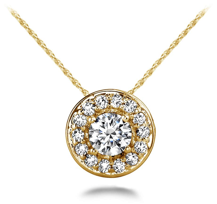 Round Diamond Centered Pendant 1/5 Carat Total Weight