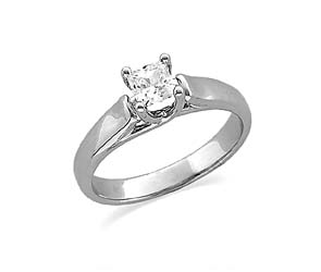 Princess Woven Solitaire Engagement Ring