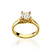 Princess Woven Engagement Ring 1/3 Carat Total Weight