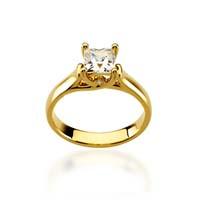 Princess Woven Engagement Ring 1/3 Carat Total Weight