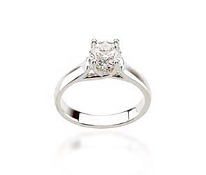Diamond Round Woven Engagement Ring