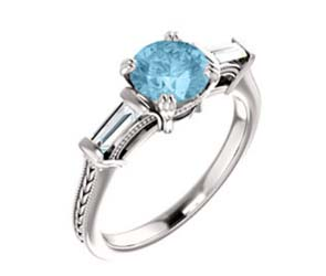 Aquamarine Engagment Ring