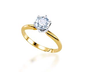 6 Prong Light Weight Engagement Ring