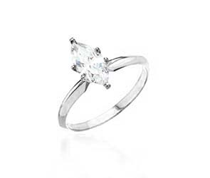 Diamond 6-Prong Marquise Engagement Ring