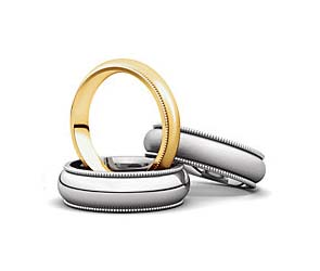 Milgrain Comfort Fit Light Wedding Band