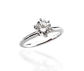 6-Prong Comfort-Fit Solitaire Engagement Ring