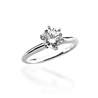 6-Prong Comfort-Fit Solitaire Engagement Ring 3/4 Carat Total Weight