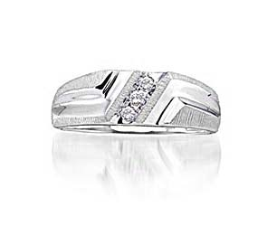 Mens Diamond Fashion Band<br> 1/10 Carat Total Weight