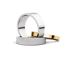 Flat Tapered Wedding Band