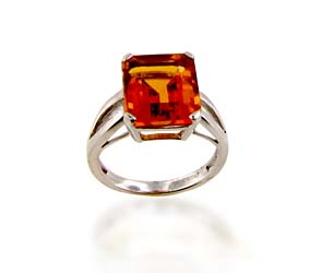 Citrine Ring<br> 6.0 Carat Total Weight