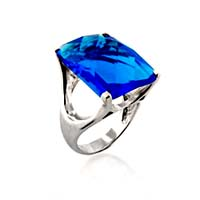 Sterling Silver Blue Topaz 19.5 Carat Total Weight